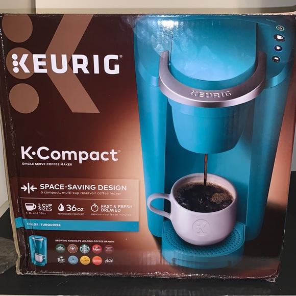 Turquoise Keurig K-Compact Single-Serve K-Cup Pod